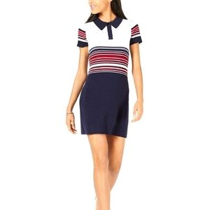 MAISON JULES Striped Polo Sweater Dress NWT